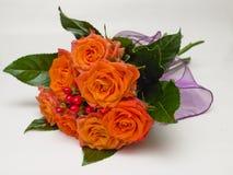 Bouquet of orange roses Stock Image
