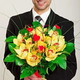 Bouquet of Orchid royalty free stock photo