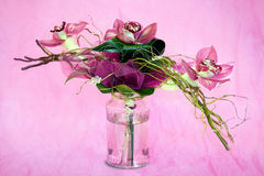 Bouquet of orchids. In the background Royalty Free Stock Photography
