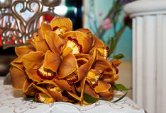 Bouquet of orchids Stock Photos
