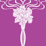 Bouquet of orchids. Graphic drawing of orchid flower.Vector illustration Royalty Free Stock Photo