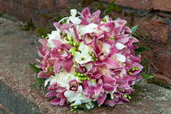 Bouquet of fresh flowers for the wedding ceremony. Royalty Free Stock Images
