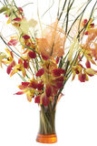 Bouquet of orchids in vase. Isolated. On white background stock photo
