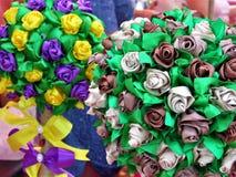 Bouquet original des fleurs artificielles Photo stock