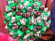 Bouquet original des fleurs artificielles Photos libres de droits