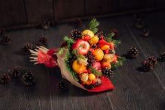 Bouquet original des légumes et des fruits Photographie stock