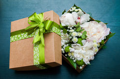 Bouquet in the package royalty free stock photo