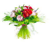 Bouquet of paeonia, veronica, eremurus, godetia Royalty Free Stock Photos