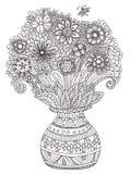 Bouquet, page de livre de coloriage Images libres de droits