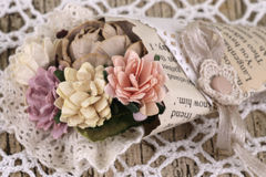 Bouquet from paper flowers Royalty Free Stock Photos