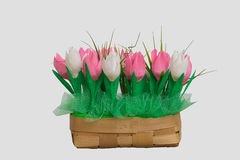 Bouquet of paper tulips Stock Photography