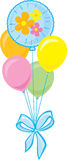 Bouquet of Party Balloons Stock Image
