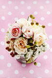 Bouquet of pastel pink and peach roses Stock Photography