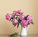 Bouquet of peonies Stock Photo