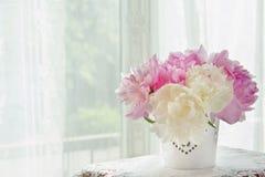 Bouquet of peonies Stock Photo