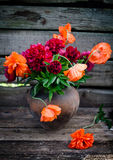 Bouquet of peonies and poppies Royalty Free Stock Photography