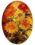 Bouquet. Picture oil paints on a canvas: bouquet of flowers. My own artwork Royalty Free Stock Images