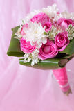 bouquet on pink background Stock Images