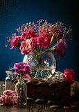 Bouquet of pink carnation royalty free stock photo