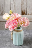 Bouquet of pink eustoma flowers Royalty Free Stock Photos
