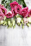 Bouquet of pink eustoma flowers Royalty Free Stock Images