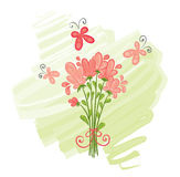 A bouquet of pink flowers Royalty Free Stock Photo