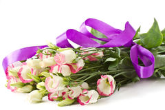 Bouquet of pink flowers lisianthus Stock Images