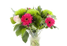Bouquet of pink flowers in vase Royalty Free Stock Photo