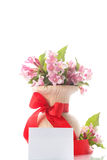 Bouquet of pink flowers Stock Image