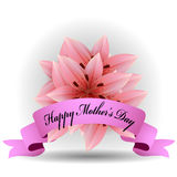 Bouquet of pink lilies Royalty Free Stock Image