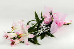 Bouquet of pink lily flower Royalty Free Stock Photography