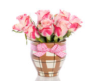 Bouquet pink orange roses Royalty Free Stock Photo