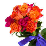 Bouquet of  pink and orange roses Stock Photos