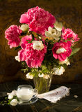 Bouquet of pink peonies Stock Images