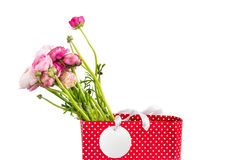 Bouquet of Pink Ranunculus, Buttercup Flowers Stock Images