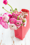 Bouquet of Pink Ranunculus, Buttercup Flowers Royalty Free Stock Images