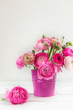 Bouquet of Pink Ranunculus, Buttercup Flowers Royalty Free Stock Photo