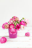 Bouquet of Pink Ranunculus, Buttercup Flowers Royalty Free Stock Image