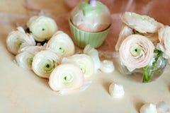 Bouquet of pink ranunkulyus Stock Image
