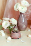 Bouquet of pink ranunkulyus Royalty Free Stock Images