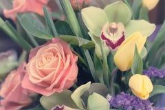 Bouquet of pink rose gentle tones Stock Photos