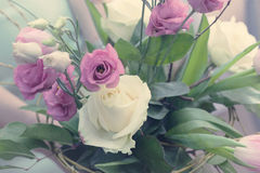 Bouquet of pink rose gentle tones Stock Image