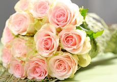 Bouquet with pink roses Royalty Free Stock Image