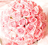 Bouquet of pink roses. Wedding bouquet of pink roses Royalty Free Stock Image