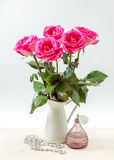 Bouquet of pink roses Stock Images