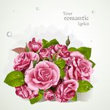 Bouquet of pink roses Royalty Free Stock Images
