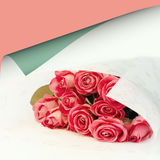 Bouquet of pink roses floral background is love tenderness vintage retro selective soft focus Stock Images