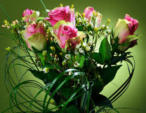 Bouquet of pink roses. Stock Photos
