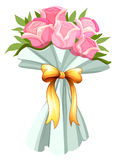 A bouquet of pink roses Stock Photography