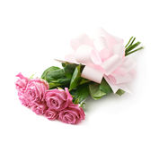 Bouquet of pink roses isolated Stock Photos